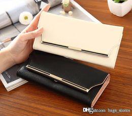 Wholesale Clutch Men Korean - Hot Men Famous Wallets Fashion Brand Women Long Purse GG6J Arteira Masculina Ladies Purse Luxury Brand Carteras