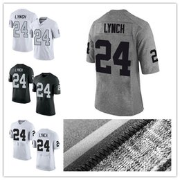Wholesale Elite American Football - 24 Marshawn Lynch American football jerseys 2017 new arrival Embroidery Amari Cooper Gray Gridiron Gray Limited Elite Rush Limited Jersey