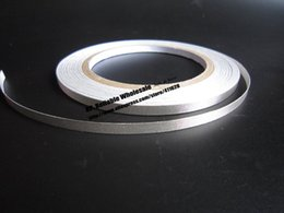 Wholesale Tape For Fabric - Wholesale- 2016 1x 6mm* 20 meters Conductive Fabric Cloth Tape, Silvery Plain, Single Adhesive for Laptop Cellphone Cable EMI Shielding