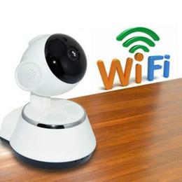Wholesale Micro Cctv Wireless Camera - HD 720P V380 IP Camera WiFi smart Home wireless Surveillance Camera Security Camera Micro SD Network Rotatable CCTV IOS PC
