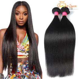 Wholesale Human Hair Free Shipping - 8A Brazilian Virgin Hair Straight 3PCS LOT 100%Unprocessed Human Hair Weaves Brazilian Hair Dyeable Double Weft Free Shipping Gaga Queen