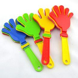 Wholesale Hand Clappers - Wholesale- 6pcs lot Big Hand Clappers Noisemakers, Party Favors, Pinata Fillers ,19cm,goody bag,treat bag