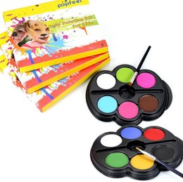 Wholesale Face Paint Palette - Popfeel Brand Rainbow Body Paint Color Neon UV Glowing Face Painting Palette Temporary Tattoo Schmink Pigment Halloween Makeup
