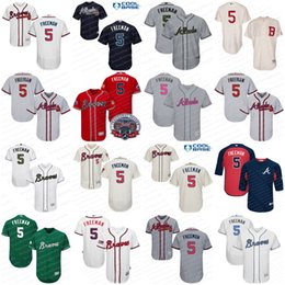 Wholesale 5 Freddie Freeman Jersey Memorial Day Father Mother Day St Patricks Day Atlanta Braves Baseball Jerseys Stitched Size S XL