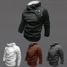 Wholesale Cool Jacket Designs - Wholesale-2016 New Men's Long Sleeve Thicken Fleece Hoodied Hoodies Tops Fashion Metal Button Design Cool Warm Sweatshirt Jacket Plus Size