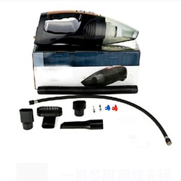 Wholesale Illumination Car - Wholesale-2016 New Four in one multifuction Car vacuum cleaner +Measuring tire pressure illumination Inflator Car accessories