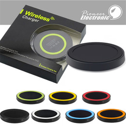 Cargador inalámbrico motorola online-Q5 Universal Wireless Charger Pad Portable Power Band Q1 estándar para s6 s7 s8 Iphone con paquete al por menor