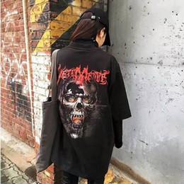 nuove foto delle ragazze calde Sconti Vetements Skull in Back bigbang gd g-dragon Oversize Uomo T-shirt a maniche corte