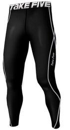 Wholesale Premium Pants - Wholesale- New Premium Take Five Men's Compression Skin Tight Long Sleeve Pants 11-Black