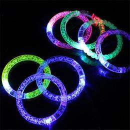 Wholesale Fluorescence Christmas Lighting - New Christmas LED Flash Blink Blinking Color Changing Light Lamp Party Fluorescence Club Stage Bracelet Bangle free DHL