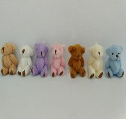 Wholesale Small Bear Gifts - Mini Bear Plush Toys Small Joint Bears 6cm Pink Brown White Colors Kids Favor Gift Decoration