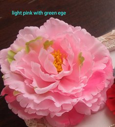 Wholesale Ornaments For Hair - 11CM 4.3inch diameter free shipping artificial peony flower head used for wedding car wall hat hair or garden ornament large