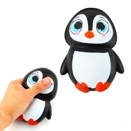 Wholesale Wholesale Retail Charms - New Arrival Jumbo Squishy Cute Penguin Kawaii Animal Slow Rising Sweet Scented Vent Charms Bread Cake Kid Toy Doll Gift Fun