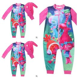 Wholesale Baby Winter Body - Baby Trolls Romper Clothing Body Suit Long Sleeve Kids Boys Girls Cartoon Rompers pajamas Clothes Roupa Infantil Christmas Gifts