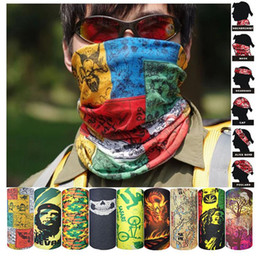 Wholesale Neck Ring Wrist - HOT PAISLEY DESIGN BANDANA BIKER COW BOY GIRL MAN WOMEN NECK SCARF WRIST WRAP Skull head bandana Free shipping