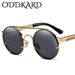 Wholesale Modern Acrylic - ODDKARD Modern Steampunk Sunglasses For Men and Women Brand Designer Round Fashion Sun Glasses Oculos de sol UV400