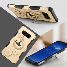 Wholesale Mechanical Gears Wholesale - Mechanical Gear TPU+PC hybrid Case Sports Stand Holder Cover Armor Cases For iPhone X 8 7 For Samsung Galaxy Note 8 S8 A