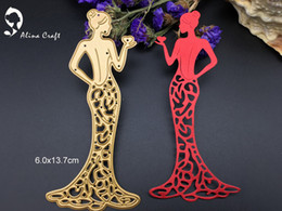 Wholesale Metal Craft Home Decorations - Metal cutting dies beauty lady heart dress girl Scrapbook card album paper craft home decoration embossing stencils cutter