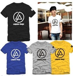 Wholesale Linkin Park T Shirts - Fashion High Quality Printing T-shirts Linkin Park T Shirt 100% Cotton Short Sleeve Tee Round Neck S-3XL