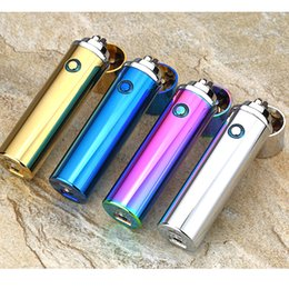 Wholesale Lighter Rechargeable Usb Cigar - 2017 New Electric double Pulse Arc Lighter Tobacco Pipe USB Lighter Smokeless Windproof Cigarette cigar lighters Rechargeable