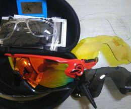 Wholesale Mountain Bike Hot - Hot Polarized Brand Cycling Sunglasses Racing Sports Cycling Glasses Mountain Bike Goggles Interchangeable 4 Lens Jawbreaker Cycling Eyewear