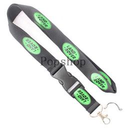 Canada Vent automobile LAND-ROVER Lanyard Porte-clés Porte-clés d'identification Porte-téléphone cellulaire Ceinture noire et verte. Offre