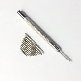 Wholesale Watch Band Spring Bars Tool - Excellent Quality 1piece tool+50pcs 1.5mm 12-28mm Stainless Steel Watch for Band Spring Bars With Strap Link Pins Remover Best Promotion
