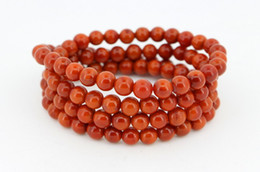 Wholesale Red Coral Beads Necklace Sets - 2017 Best red agate Bracelet necklaces 108 beads FREE SHIPPING wholesale and retail fashion jewelry red agate necklaces