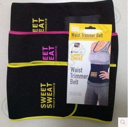 Wholesale Trimmer Belts - 3 Colors 3 Sizes Sweet Sweat Premium Waist Trimmer Unisex Belt Slimmer Exercise Waist Wrap With Retail Package CCA5627 50pcs