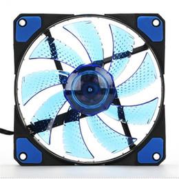 оптовый вентилятор dc 12v Скидка Оптово-Лучшая цена 15 LED Light Довольно 120мм DC 12V 4Pin PC Компьютерный корпус Охлаждение Cool Fan Mod