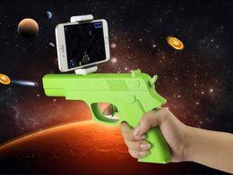 Jouets contrôlés par app en Ligne-2017 AR-GUN VR Jeu de réalité augmentée Jeux de tir avec APP Smart Phones Bluetooth Control Toy Gun