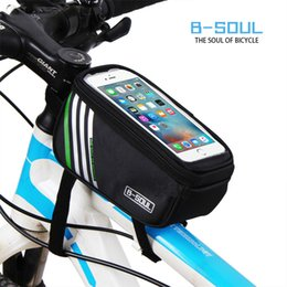 Wholesale Internal Frame Pack - BICYCLE FRAME IPHONE HOLDER PANNIER CYCLING BIKE MOBILE PHONE CASE BAG POUCH