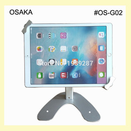 Wholesale Aluminium Surface - Wholesale- 10 to 13 inch tablet table security kiosk stand for Surface Pro 12 inch display mounting on desktop lock holder universal