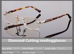 Argentina Comercio al por mayor teñido diamond-cutted readinggalsses calidad Royal Luxury style dignity readingglasses gradual marrón gris + 100 --- + 300 50 paso Suministro