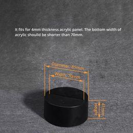 Wholesale Aa Base - 7 Colors LED Lamp Base for 3D Illusion Acrylic Light Panel AA Battery or DC 5V Factory Wholesale