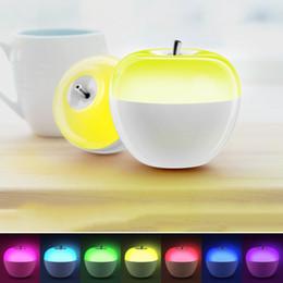 Wholesale Apple Desk Light - Creative Apple Shape LED Blowing sensor Lamp Brightness Adjustable LED Night light Colorful Changing Blow bedside Fruit Atmosphere Desk Lamp