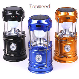 Wholesale Hanging Solar Camping Lights - New Portable Solar Panel Lantern Hand Led Camping Light 16LED Bright Light Lamp holiday lights Outdoor Hanging Lamp Hiking solar Lights