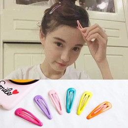 Wholesale Base Claws - Children's hair clip small drops of oil BB crushed candy colored headdress hairpin hairpin based edge clamp 5cm