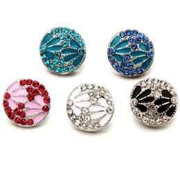 Brand New 18mm DIY alloy Button de alta calidad de la manera de la venta al por mayor de la joyería del regalo del partido del partido de la mujer rhinestones a20 desde fabricantes