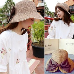 62af4c9e6a2d9 2017New Fashion female Summer Sun Hat 5colors straw folding Straw Beach  foldable Wide Brim Cap for Men Women sunhats for beach party