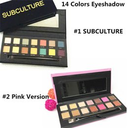 Wholesale Best Matte Eyeshadow - 2017 SUBCULTURE Eyeshadow Palette Brand 14 color eyeshadow Palette Best quaility Makeup Eye Shadow with Lint pack DHL free shipping