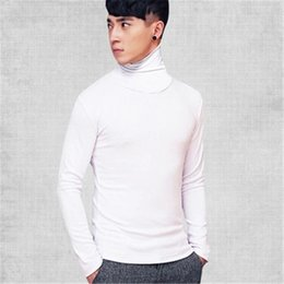 Wholesale mens thin turtleneck - Wholesale- 2017 Winter Thick Warm 100% Cashmere Sweater Men Turtleneck Men Brand Mens Sweaters Slim Fit Pullover Men Knitwear Double collar