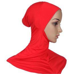 Wholesale Hijab Inner - Wholesale-Hijab Headwear Full Cover Underscarf Ninja Inner Neck Chest Plain Hat Cap Scarf Bonnet