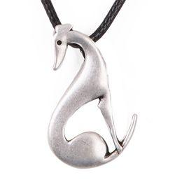 Gros-assis Greyhound Collier Chien Pendentif Whippet Italien Colliers Pendentifs Argent Collier Ras Du Cou Femmes Cadeau de Noël ? partir de fabricateur