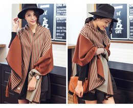Wholesale Long Double Sided Shawl Wrap - The new autumn and winter stall hot selling scarf wholesale double - sided long cashmere scarves female size 62*200CM ZSF003