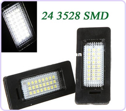 Wholesale Bmw E39 License Plate Light - 2Pcs Error Free 3528 SMD 24 LEDs Car License light Led Lamp Plate LED Light Lamp for BMW E39 E60 E61 E90 5 Series