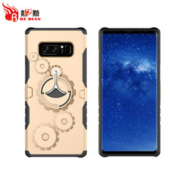Wholesale Galaxy Note Gear - Cell Phone Covers Wheel Gear Style For Samsung Galaxy Note Series Luxury Iphone Cases For New Note8 S8 S8Plus Iphone8 Smartphone Cover