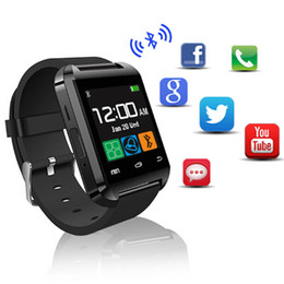 Wholesale Reminder Device - Smartwatch Bluetooth Smart Watch U80 for iPhone IOS Android Phone Wear Clock Wearable Device Smartwach PK U8 GT08 DZ09 Watches