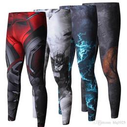 Wholesale Full Superman - High Quality Men Skinny Pants 3D Pattern Superman Iron Man Flash Bodybuilding Jogger Fitness Skinny Leggings Trousers free shipping