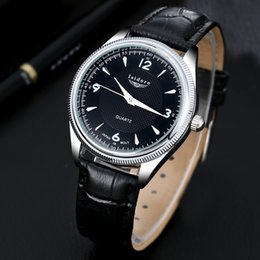 Wholesale Tv Wrist Watches - watch free tv programs 2016 Fashion Casual Mens Watches Top Brand Luxury High Quality Leather Waterproof Quartz Wrist Watches For Men Herren